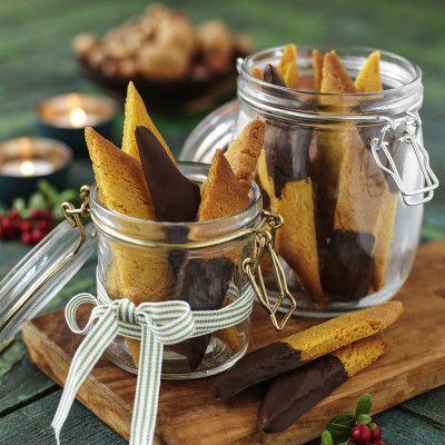Bild på Chokladdoppade saffranskolasnittar