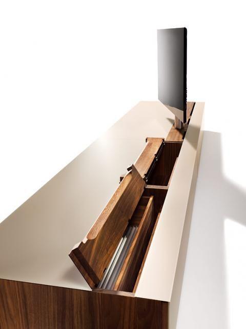 Tv Möbel Aus Holz Glas In Weiß Oder Schwarz Rundum Schön