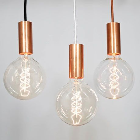 Nud flex light fittings copper pendant