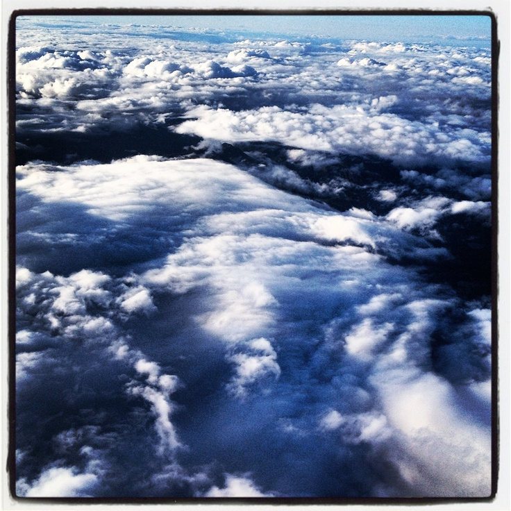 Cloudscape at 33,000 ft above the Free State, South Africa