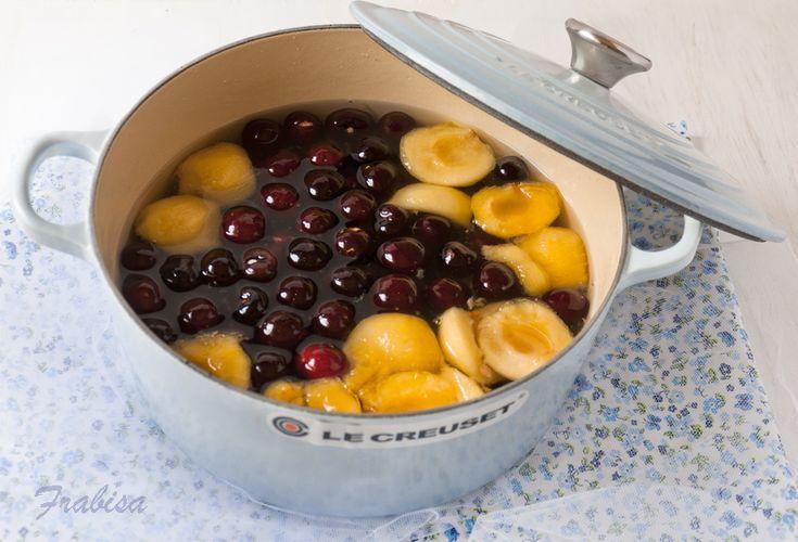 Conservas de fruta en almíbar