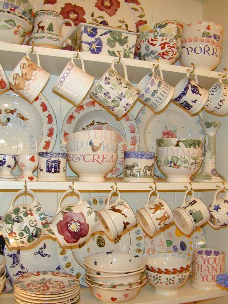 This dresser laden with Emma Bridgewater crockery should definitely be mine! This is just what I love.