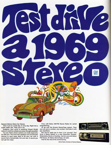 "1968 Magazine Advertisement ""Test drive a 1969 stereo"" General Motors USA"