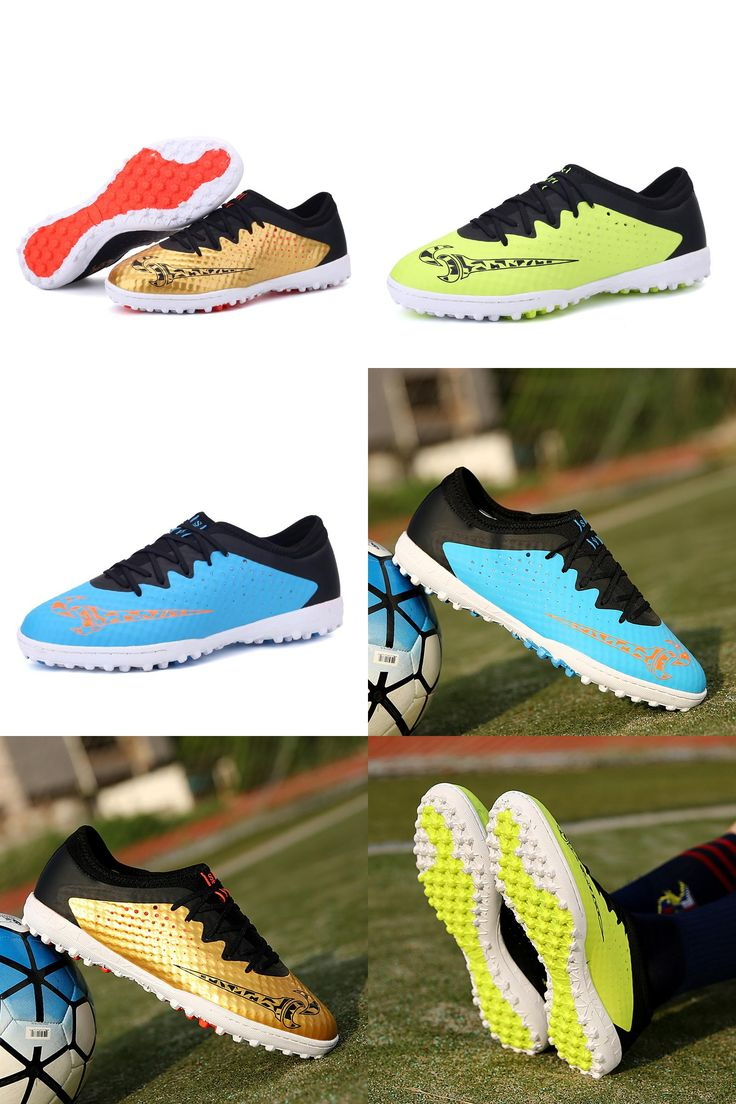 [Visit to Buy] 2017 Men Soccer Infoor Futsal Shoes Professional Trainer Tf Football Boots Zapatillas Futbol Sala HOMBRE boys Kids Soccer Cleats #Advertisement