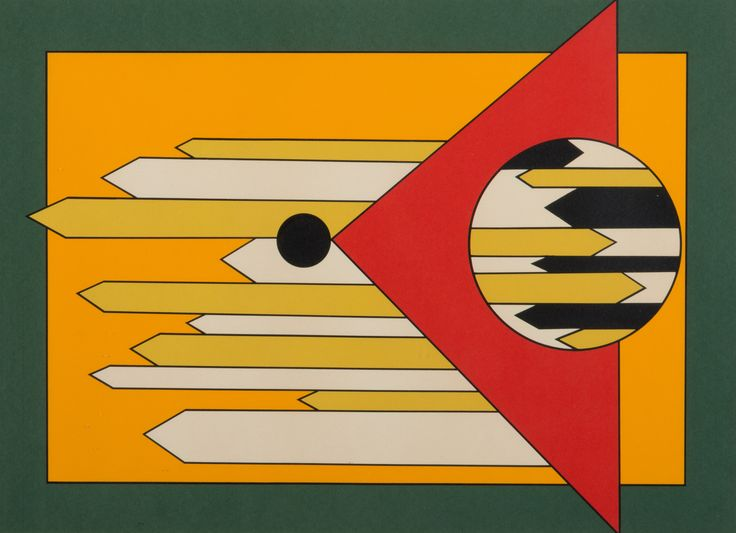 BENGT ORUP. Komposition, färglitografi, signerad Orup.