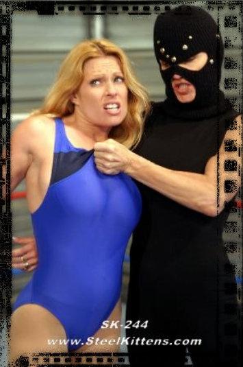 Pantyhose super heroine wrestling