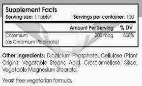 A LO NATURAL Y SENCILLO: Beneficios del Picolinato de Cromo