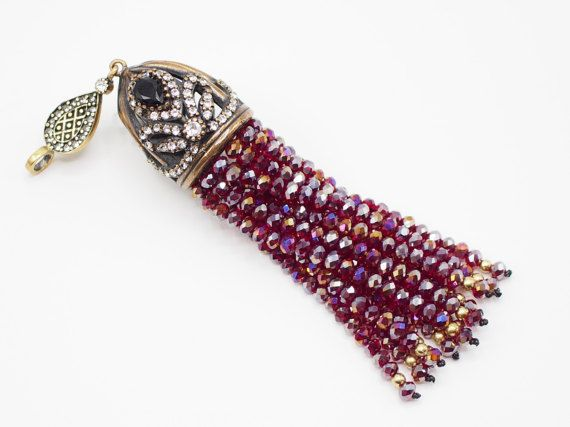 Tassel Pendant with Rose Vale Crystal Stone Jewelled