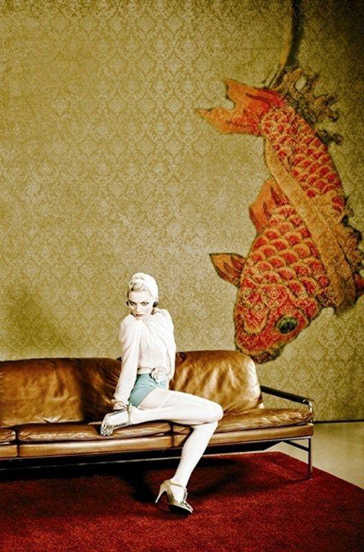 Wallpaper by Wall&Deco -Tangerine