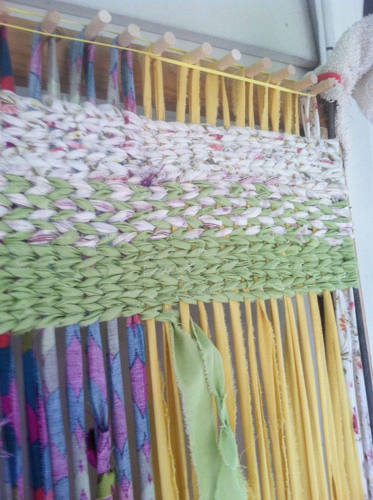 New Rag Rug Loom My Hubby And I Made Together!! First Rug In Process