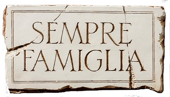 Italian Wall Plaque with the words Family is Forever