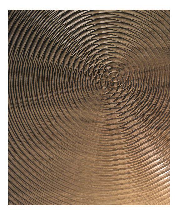 """gesneden houten hedendaagse reliëf sculptuur door james patrick knapperig """"vortex ik"""""""