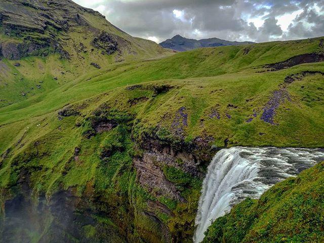 Vodopád Skogafoss #iceland #skogafoss #waterfall