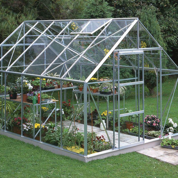 B&Q Premier Metal 6X10 Toughened Safety Glass Greenhouse | Departments | DIY at B&Q