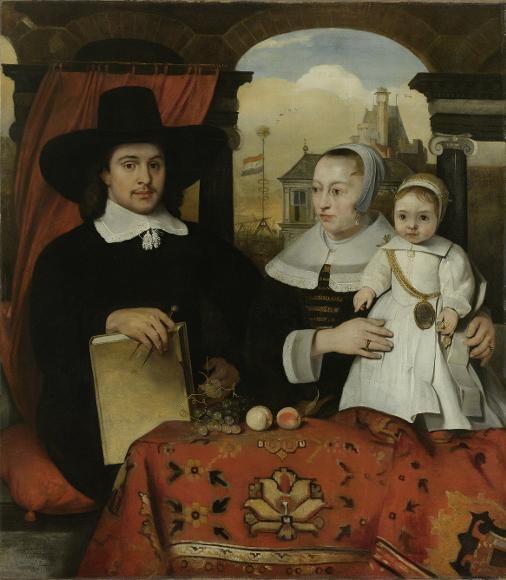 Barent Fabritius, Familyportrait of Willem van der Helm, his wife Belytgen Cornelisdr van de Schelt and their son Leendert, 1656 - Het Rijksmuseum