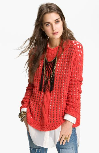 Free People Basket Weave Sweater