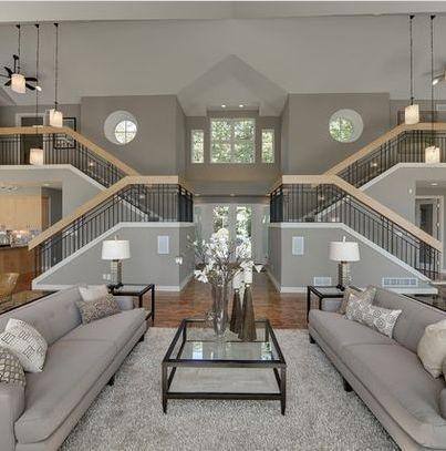 Ich liebe offene Treppen, die zum Raum beitragen, nicht sicher, wie ich über die Symmetrie empfinde #beitragen #liebe #nicht #offene #sicher #symmetrie #treppen