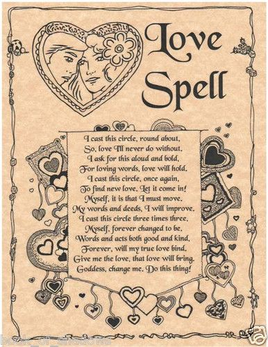 Love Spell Book Of Shadows Page Bos Pages Witchcraft Wicca