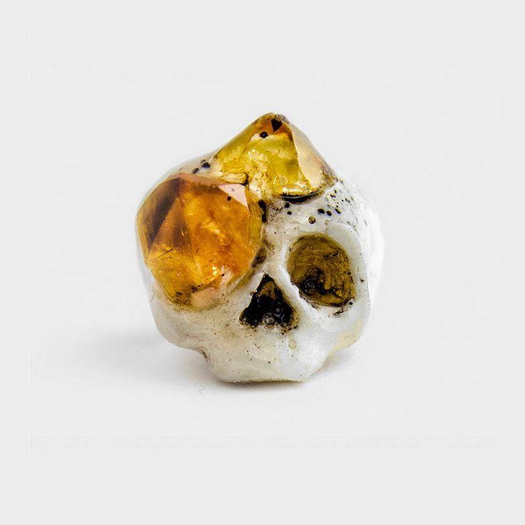 Citrine Growth Anello con Quarzo #jewellery
