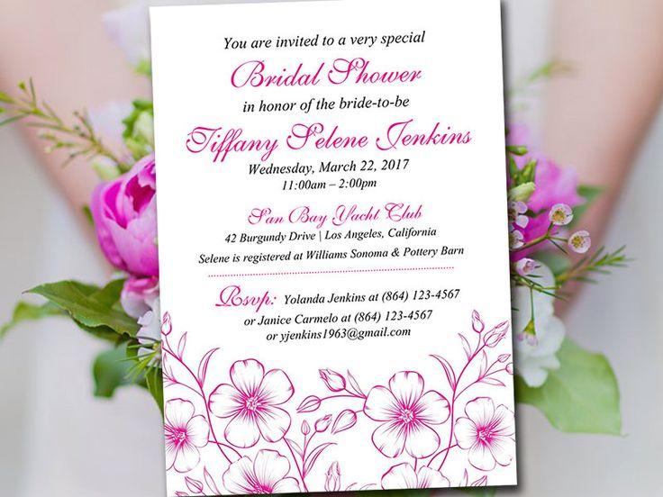 75 best Spring Wedding images on Pinterest Floral invitation - bridal shower template