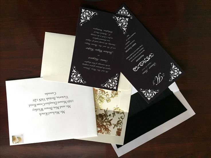 Envelope inserts, and different font styles are great ways to dress up (or down) your invitations.