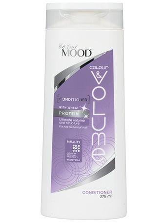 » BALSAM COLOUR & VOLUME Mood's hårvårdsserie är specialutvecklad för färgat hår. Balsam för tunt/fint och färgat hår, med veteprotein för optimal volym. Innehåller även solrosextrakt som reparerar och skyddar mot skadliga UV-strålar. För optimal färgvård. Finns att köpa i dagligvaruhandeln.