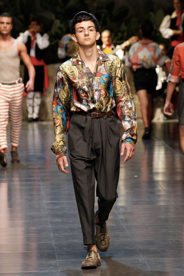 Dolce & Gabbana Spring/Summer 2013 Menswear Milan Fashion Show: The Big Love For Sicilian Original Lifestyle & Heritage