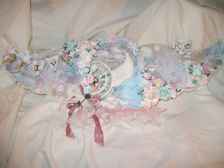 Shabby Chic Fairy Door with Wings | My Creations | Pinterest