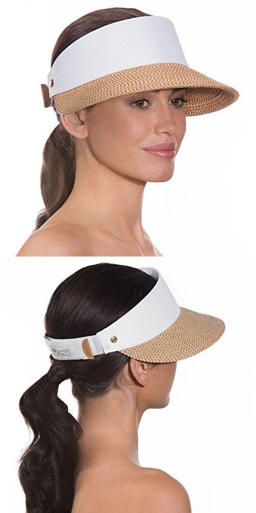 Eric Javits Luxury Fashion Designer Women s Headwear Hat - Champ Visor -  Peanut White fb921e4bb