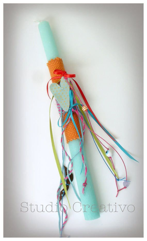 """Easter Candle - """"Hearts & Ribbons"""""""