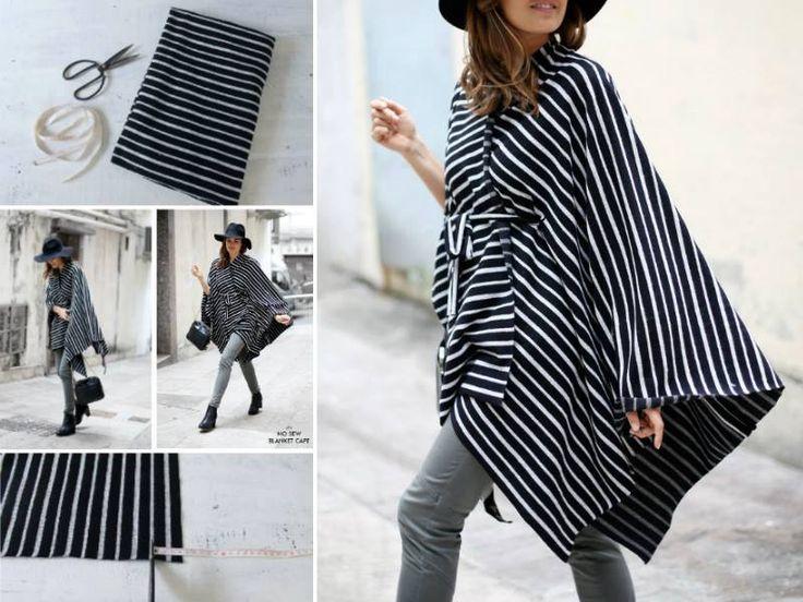 No Sew tutorial - stylish cape