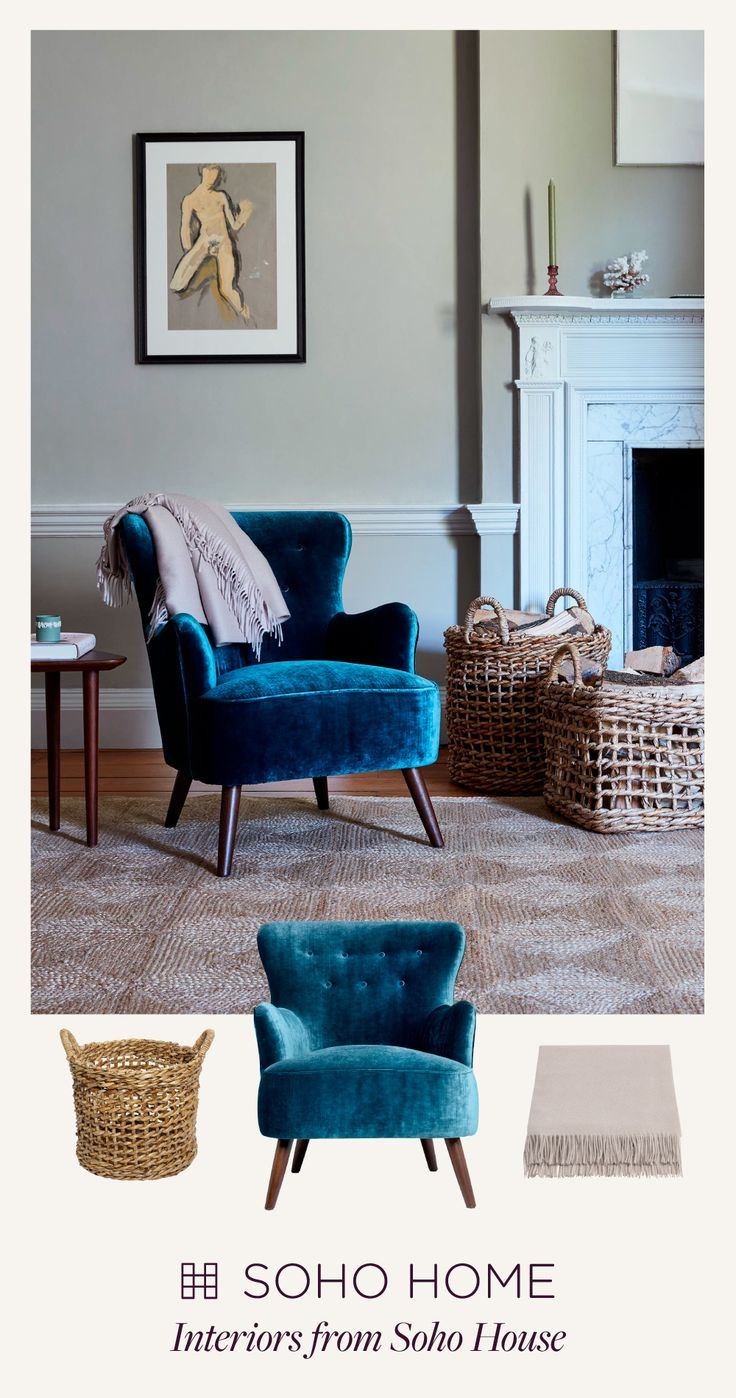 Found in many of the Houses including Soho House Chicago, our Betsy armchair's compact size makes it ideal for smaller spaces, as a dining chair or at a dressing table.