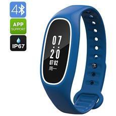 Fitness Tracker Bracciale Db01 - Ip67, La Frequenza Cardiaca, La Pressione Sanguigna, Contapassi, Conta Calorie, Chiamata Di Promemoria, Mobile App (blu)