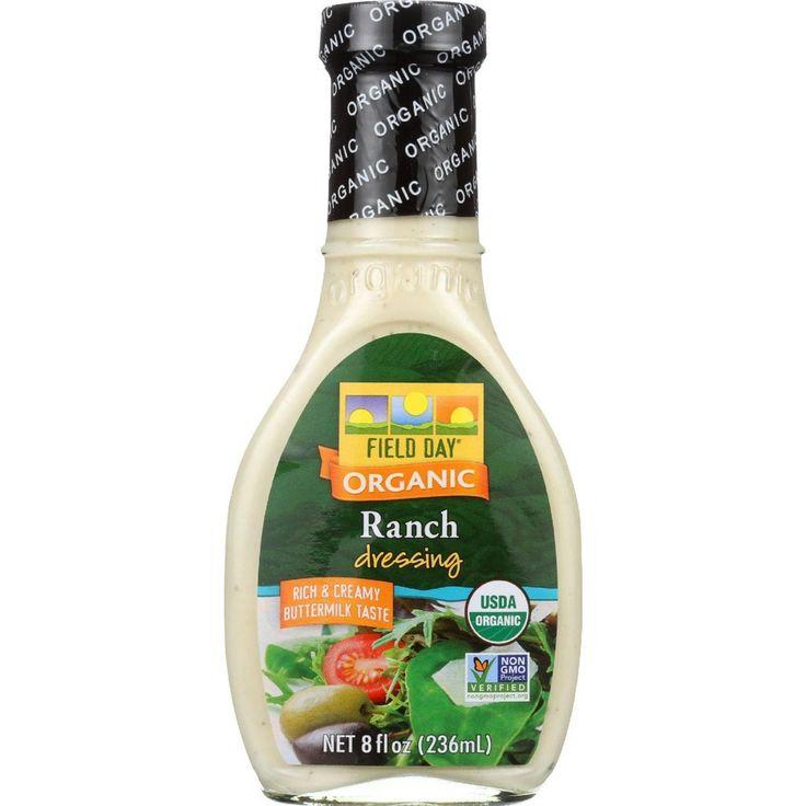 Field Day Dresssing - Organic - Ranch - 8 Oz - Case Of 12