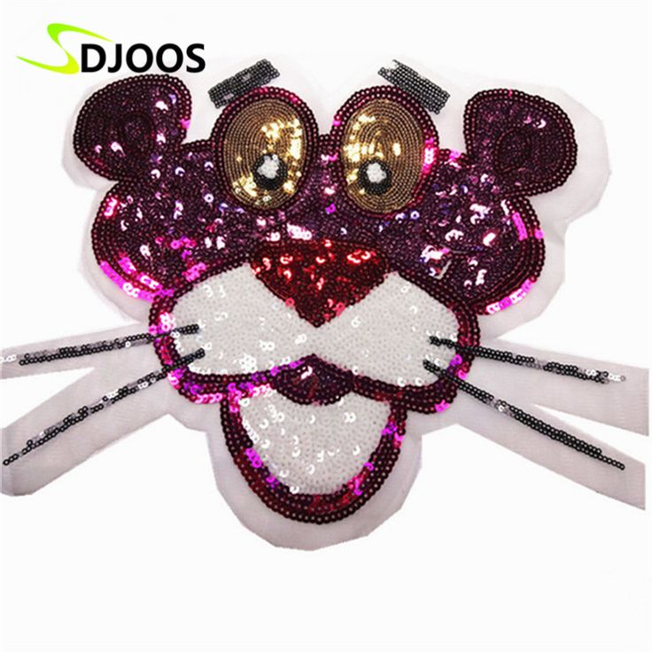 Embroidered Applique Sequined Patches for Clothing Logo Cartoon Iron on Patches Biker Motorcycle Patches For Jeans Jackets Lion