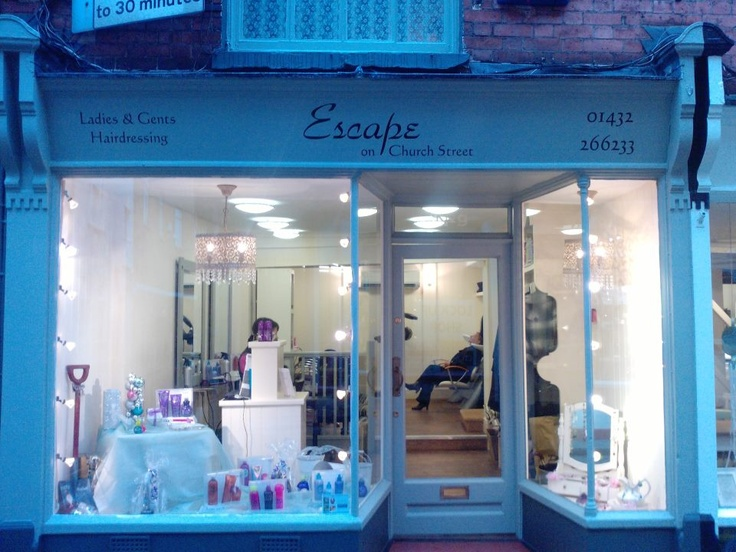 this lovely 5 star salon is at 9 church street Hereford, in the heart of the city, Tel 01432 266233 for appointment