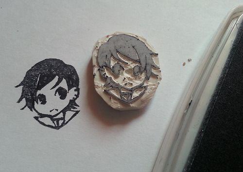 Stempel manga diy colour pinterest manga stempel for Radiergummi selber machen