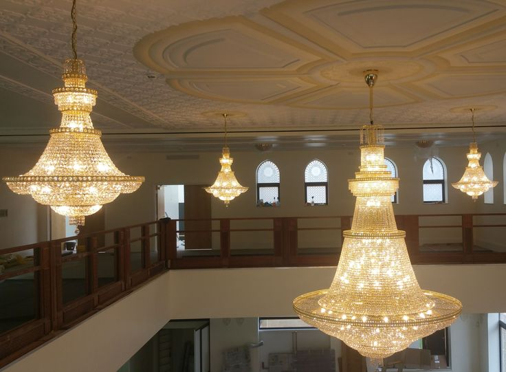 Summer 2017 saw us installing several glittering custom made crystal chandeliers in a uk mosque