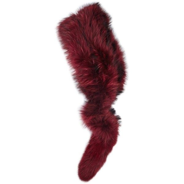Charlotte Simone Popsicle Burgundy Fur Scarf ($395) ❤ liked on Polyvore featuring accessories, scarves, fur scarves, burgundy shawl, charlotte simone, fur shawl and burgundy scarves