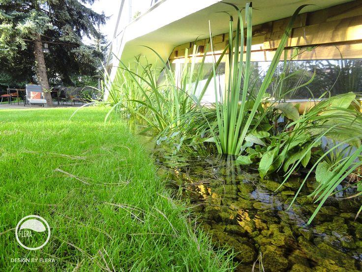 #landscape #architecture #garden  #water #feature #chair #pond