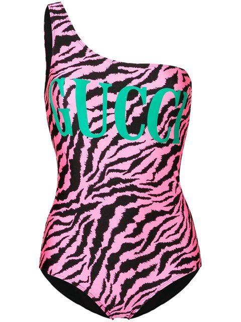 9b09261d9c3e4 Gucci Zebra Logo Swimsuit - Farfetch | SPORTS in 2019 | Swimsuits ...