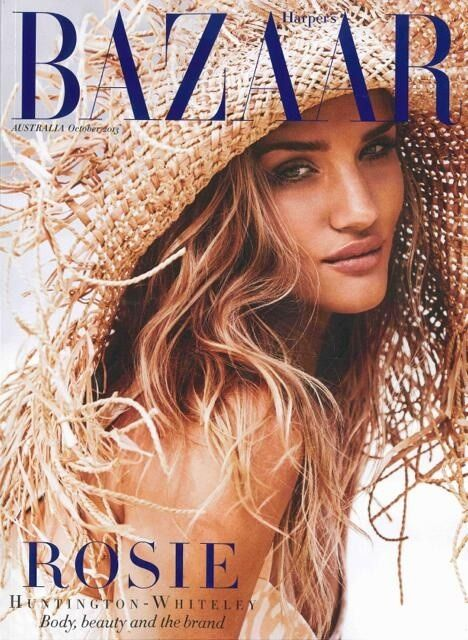 Rosie Huntington-Whiteley for Harper's Bazaar Australia October 2013