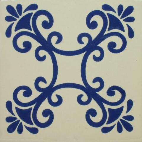 Especial Decorative ceramic Mexican Tile - San Miguel Azul