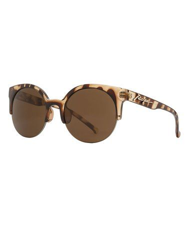 Another great find on #zulily! Tortoiseshell Brown Polarized Browline Sunglasses #zulilyfinds