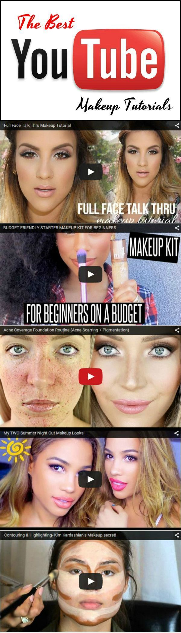 Makeup Artist Tricks For A Flawless Look at http://makeuptutorials.com/youtube-makeup-tutorials-part-1/