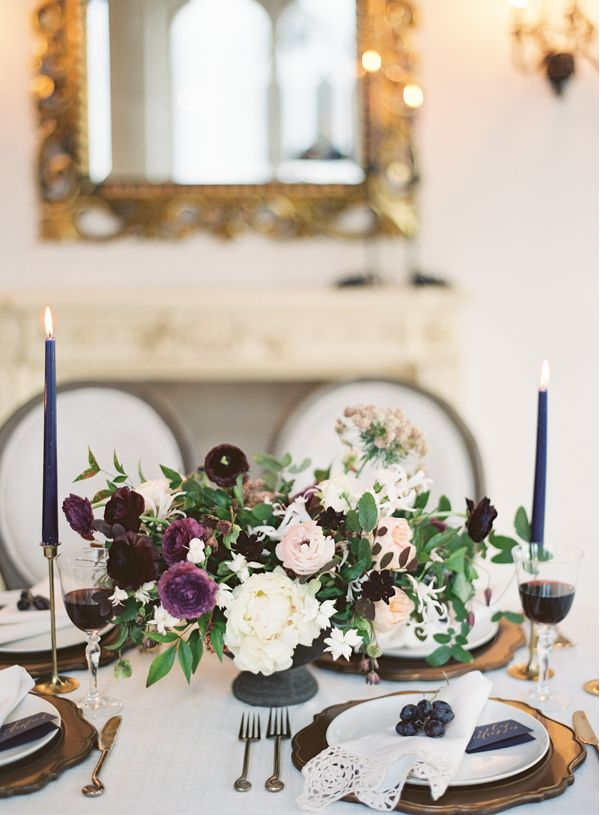 Rich and Delicate Wedding Inspiration via oncewed.com
