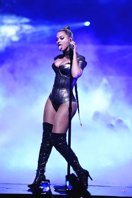 Beyoncé performing at the TIDAL X: 1015 Benefit Concert. October 15, 2016 in New York City.