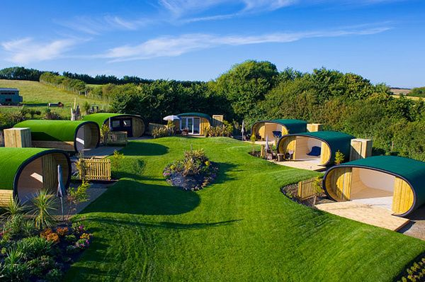 England; Looking for a different holiday in England?  Then you might try staying in a pod cabin, cool glamping accommodation from One Off Places.