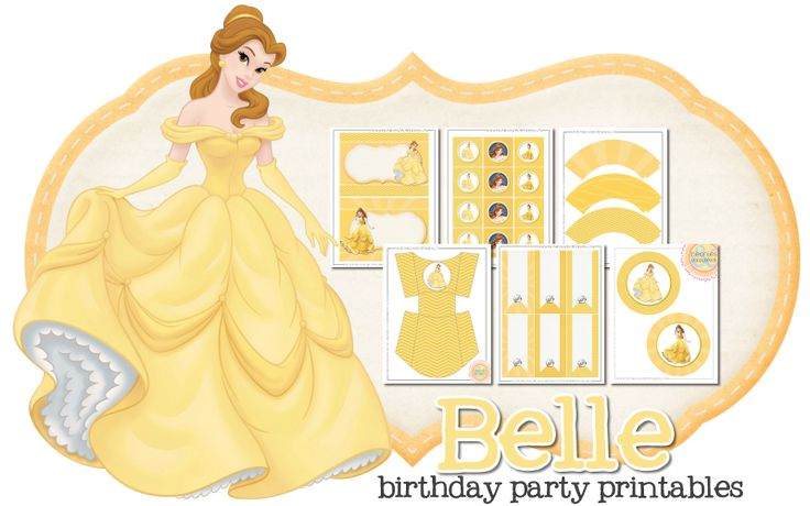 Belle Birthday Party Freebie | Peonies and Poppyseeds