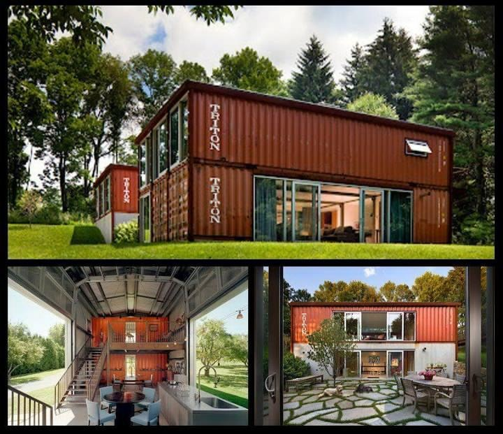 Recycled shipping containers turned into a house popup Containers turned into homes